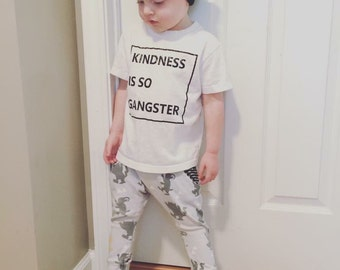 Kindness Is So Gangster graphic tee Toddler sizes 12 months-5T
