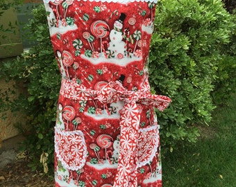 Women's holiday full aprons