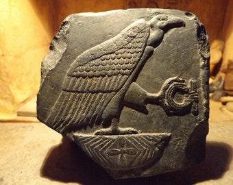 Egyptian art / sculpture relief of Nekhbet - Vulture goddess - Hierolglyph
