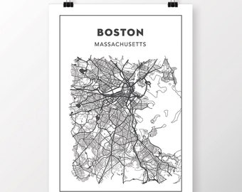 FREE SHIPPING to the U.S!! BOSTON Map Print
