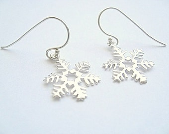 Snowflake earrings Sterling Silver (D)