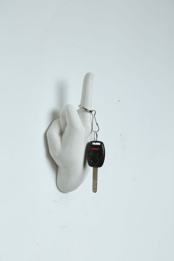 Interior Illusions Middle Finger Wall Hook White Hand