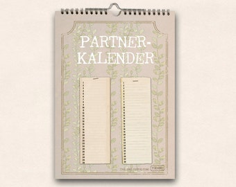 Partner calendar - year for two
