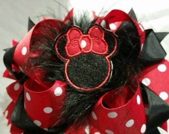 minni over the tophair bow 6in