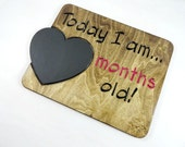 Months Old Sign - One Month Old Sign - Months Old Sign Photo Props - Chalkboard Sign - Countdown Sign - Baby Shower Gifts - New Mom Gift