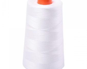 Aurifil Natural White 2021 Cone; Mako Cotton 50wt Thread; Aurifil Thread; White Thread; for machine embroidery, applique, quilting