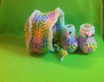 Micro Preemie Hat and Booties Set, Other sizes available upon request