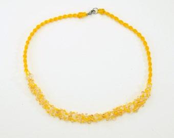 Macrame citrine twist necklace