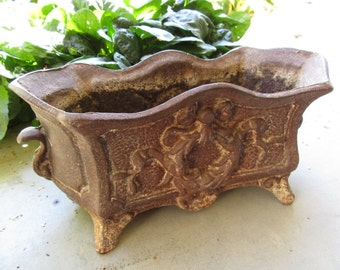 Deville Foundry Antique Cast Iron Cachepot/Jardiniere; Early 1900's