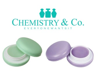12 Empty MACARON Containers Plastic Lip Balm Jars Pots DIY Lip Gloss, Salve, Solid Perfume, Eye Cream, Party Favor 8 ml  ASSORTED Colors