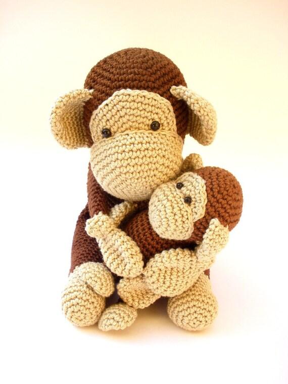Crochet Monkey, monkey stuffed animal, monkey baby shower ...