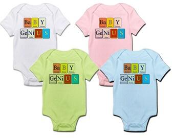 Baby Genius Infant Onesie - designed with Periodic Elements of Chemistry