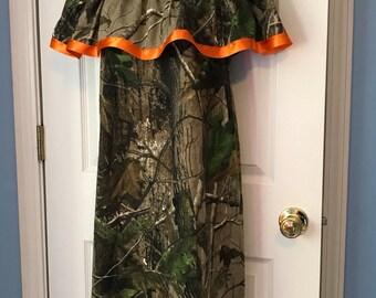 Women Ruffle Camo Dress Ladies all sizes 2 4 6 8 10 12 14 16 18 S M L XL Realtree Mossy Oak Hunting Hunter Camouflage Woods Cotton bridemaid
