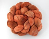 Superfine Merino/Baby camel/Silk/BFL Top (Roving), hand dyed spinning and felting fibre, Hera blend 'Relish' - 100g/3.5oz