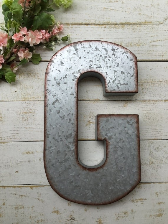 metal letter wall art galvanized letter large metal letter home by 13994 | il 570xN.962111898 od2x