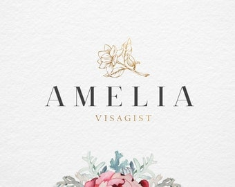 Elegant Flower Premade logo , Photography logo and Watermark