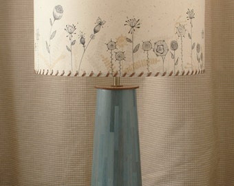 Handmade Straw Marquetry table lamp