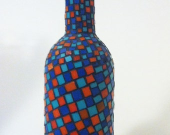 Mosaic Bottle with Cork Top
