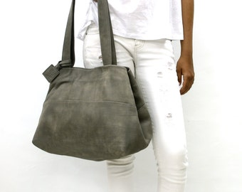 Big leather bag   Etsy