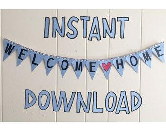 welcome home printable banner