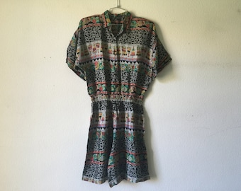 Vintage Short Jumpsuit