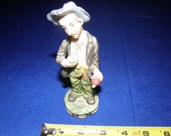 Vtg Italian Ceramic Drubken Hobo Figurine Statue Handmade italy