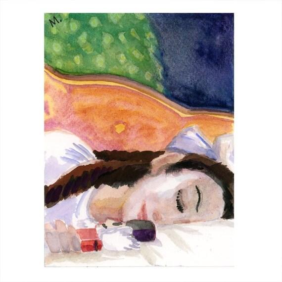 """Small Nutcracker Painting 4 1/2""""x6"""" - Clara"""