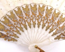 Hand Fan Ivory Color Lace