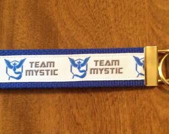 Team Mystic Pokemon Go Key Chain Key Fob Wristlet
