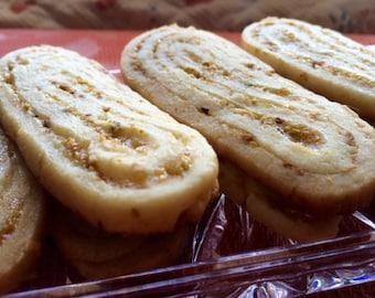 Pistachio Apricot Swirl Cookies