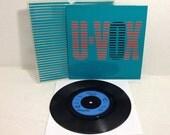 "Ultravox vintage vinyl record - Same Old Story 45 rpm Import 7"" || 80's New Wave"