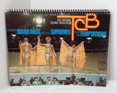 Supremes & Temptations TCB Handmade Vintage Record Cover Notebook Album Jacket Journal Ephemera || Unique Gift