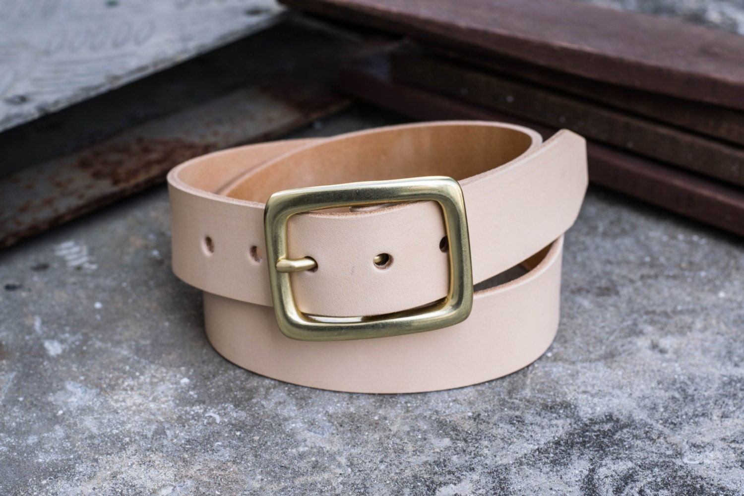 vegetable tanned leather garrison belt 3 colors 1 5 inch
