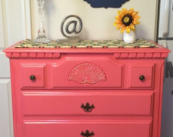 SOLD **** Coral 5-drawer Dresser