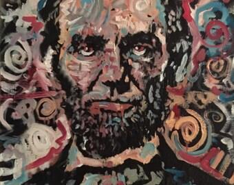 Abraham Lincoln Art by Matt Pecson American History American President Art Americana Decor Dorm Decor MADE TO ORDER