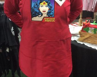 Wonderwoman apron with 2 pockets