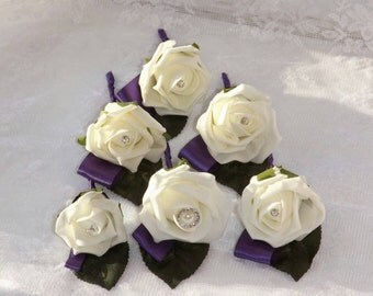 artificial Rose wedding Buttonhole boutonniere, any colours