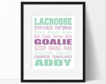 Lacrosse Gift - Girls Lacrosse Print - Girls Lacrosse Bedroom Decor - Girl Sports Decor - Lacrosse Print - Teen Room - Kid Room Decor