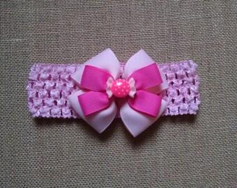 Baby Girl Headband, Candy Headband, Pink Headband, Baby Headband, Baby Hair Accessory, Candy Hairbow, Girls Hairbow, Little Girl Headband