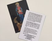Prayer card - Mary, Ark of The New Covenant with Imprimatur
