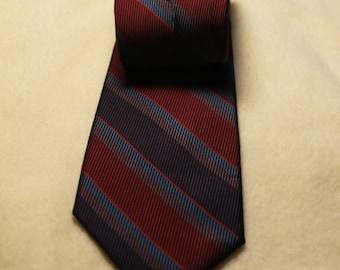 1990s Oro C Striped Tie