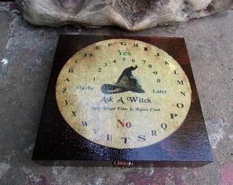 Ask A Witch Pendulum Board Cigar Box