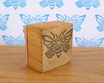 tampon papillon, gravé à la main, bois, recyclé, scrapbooking, customisation, relooking