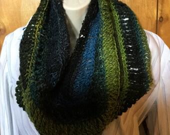 Beautiful  Crocheted CowlMade of Noro Yarn