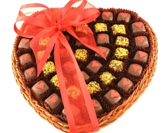 Happy Valentines day Gift Basket - Date Bites - Vegetarian and Gluten-Free
