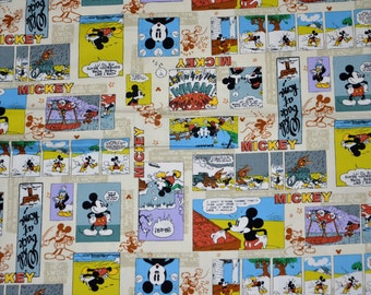 Mickey Mouse Disney Comic Japanese Cotton Fabric - one piece- 1.2 meter