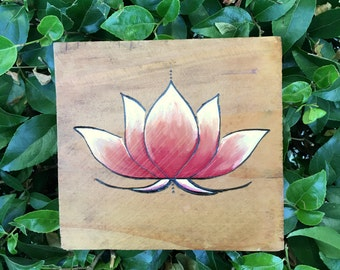 Fiery Lotus Wall Hanging