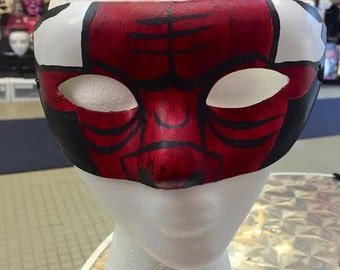 Chicago Bulls Inspired Masquerade Mask