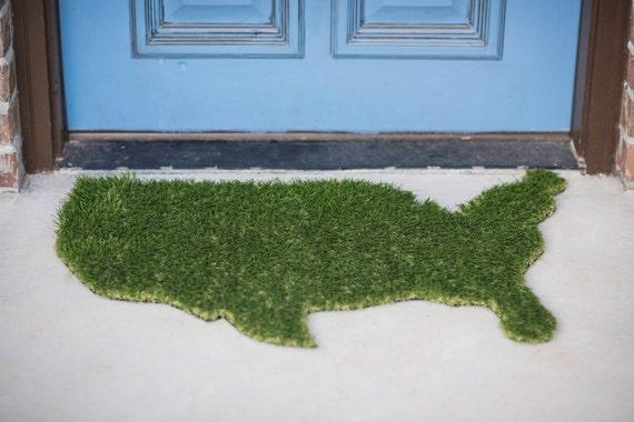 vente paillasson gazon synth tique usa tapis wall art. Black Bedroom Furniture Sets. Home Design Ideas