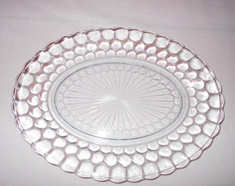 "Anchor Hocking bubble platter clear 12"" X 9"""